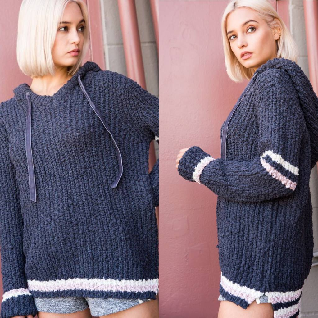 Soft Knit Hoodie Pullover