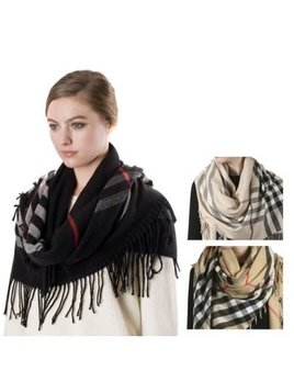 Burberry Print Plaid Scarf