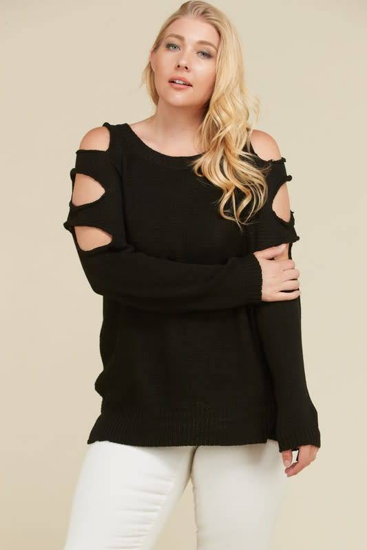Side Cut Out Sweater