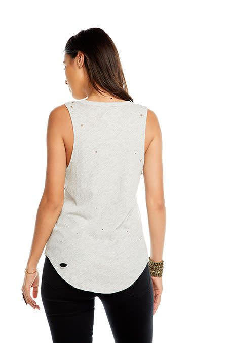 Distressed Star Tank Top