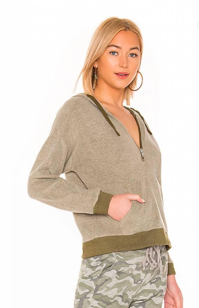 Fuzzy Pullover with Kangaroo Pocket