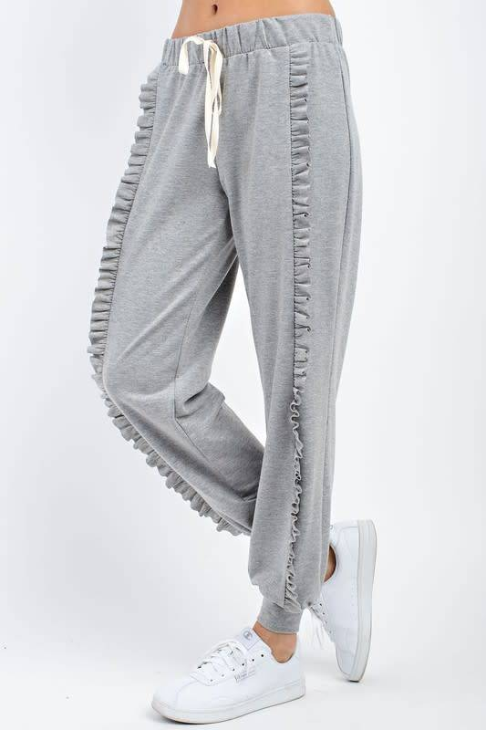 Ruffle Bottom Sweatpants