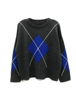 Argyle Knit Sweater