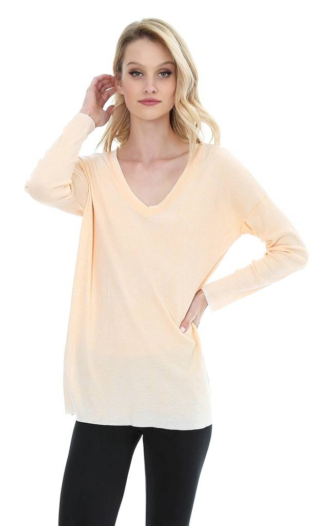 Drop Shoulder Long Sleeve Top