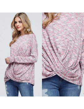 Long Sleeve Top With Twist Front