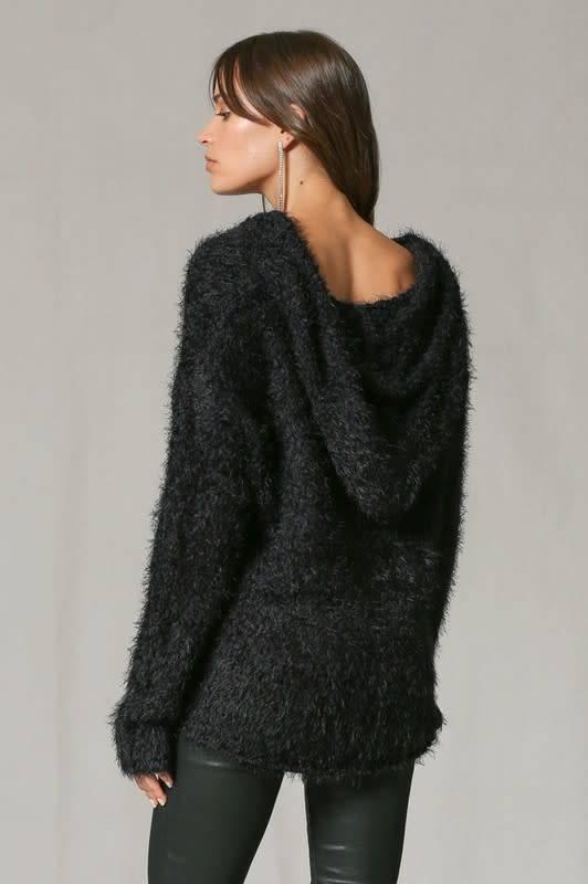 Bubble Knit Hoodie Sweater