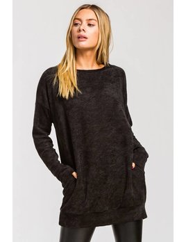 Chenille Tunic Top with Pockets