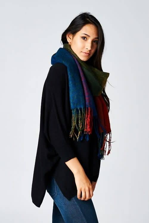 Multi Color Block Scarf