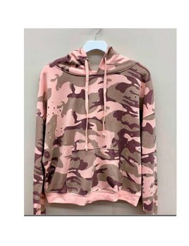 Camouflage Distressed Hoodie