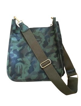 Camouflage Vegan Leather Messenger Bag