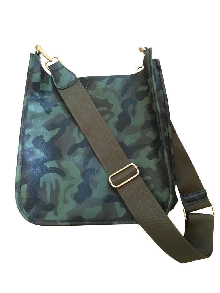 Camouflage Vegan Leather Messenger Bag