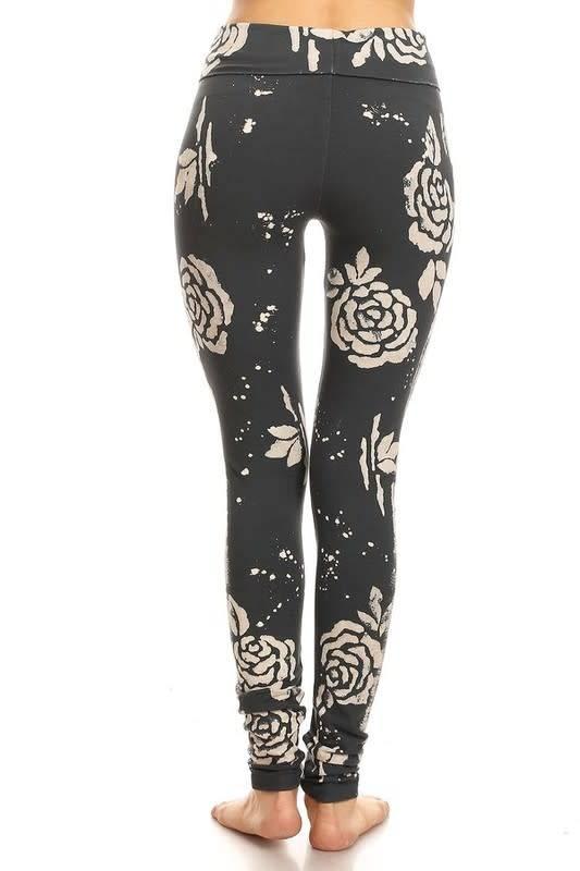 Rose Batik Foldover Legging