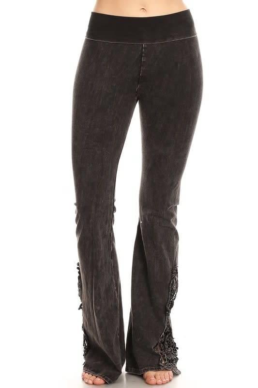 Lace Patch Yoga Pants