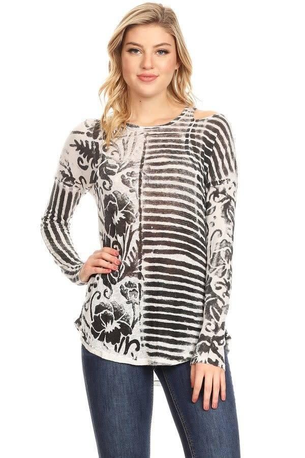 467499ec9e2015 Cold Shoulder Print Top - Casual 2 Dressy