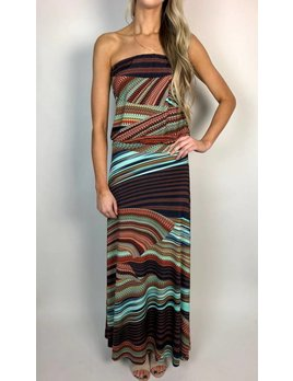 Print Dropwaist Maxi Dress