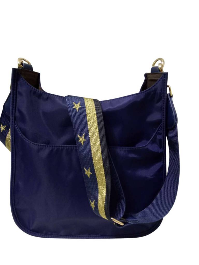 Messenger Bag with Gold Star Strap