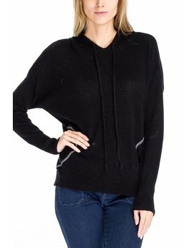 Hooded Sweater with Stitched Pockets