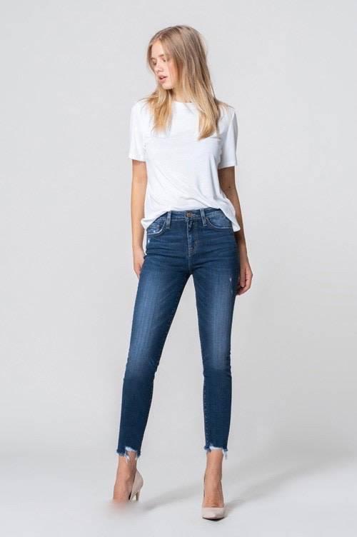 High Rise Crop Skinny Jeans