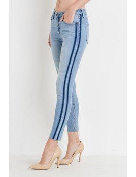 Light Denim Side Stripe Jeans