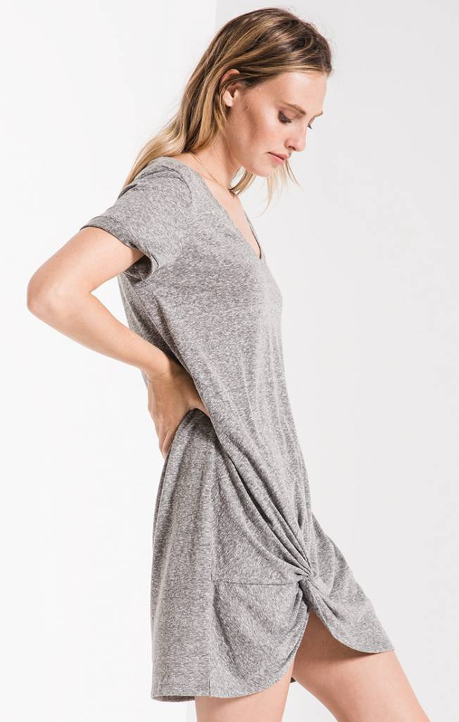 Side Knot Tee Shirt Dress