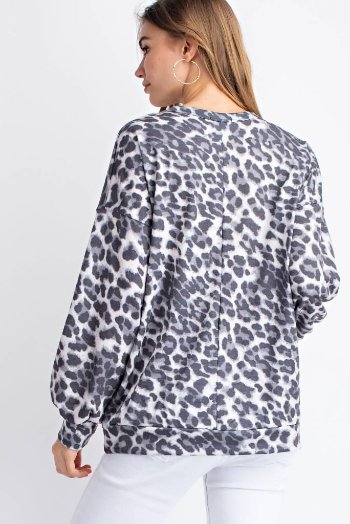 Leopard Print Choker Top