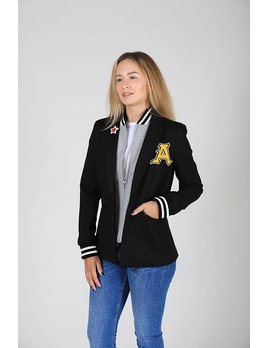 Jacket with Zip Pockets & Patch