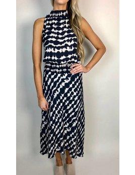Halter Style Smocked Maxi Dress