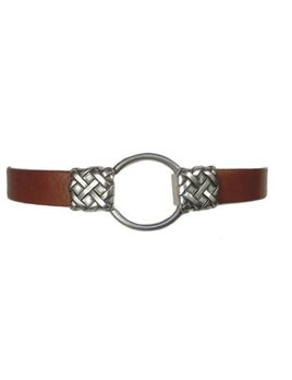 Leather Belt w/ Buckle Closure