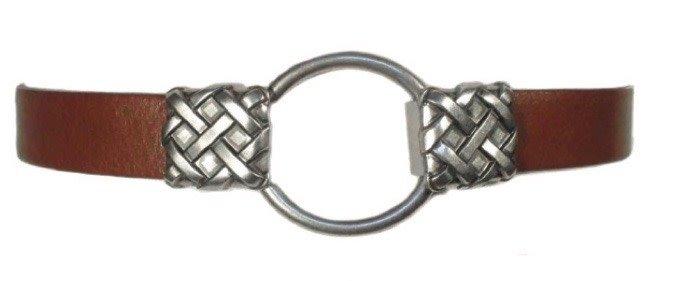 Leather Belt w/ Buckle Closure