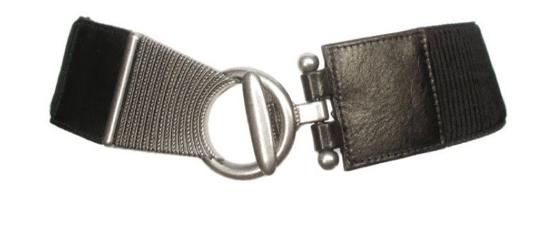 Elastic Leather & Nickel Belt