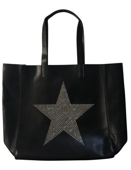 Tote with Silver Crystal star