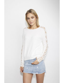 Sweater with Crochet Sleeves