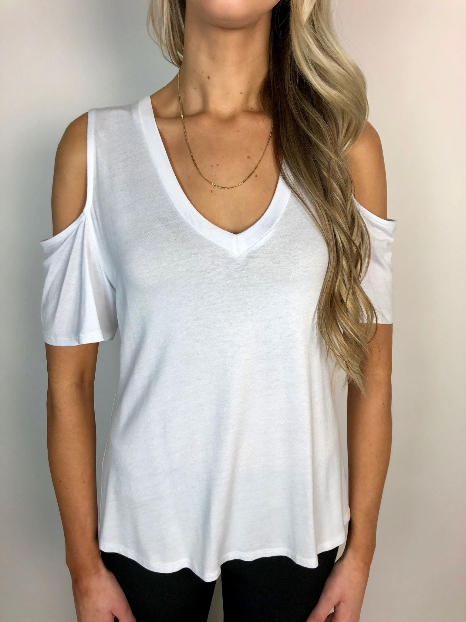 Cold Shoulder Tee Shirt
