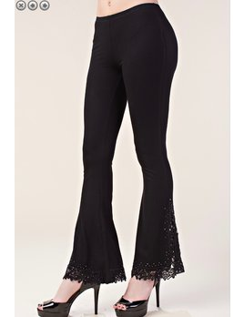 Lace and Stone Detail Pants