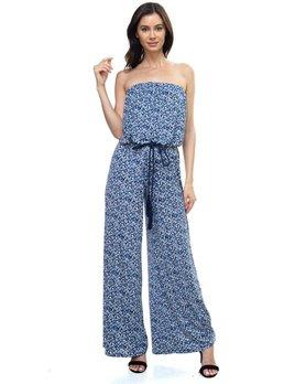 Print Strapless Jumpsuit
