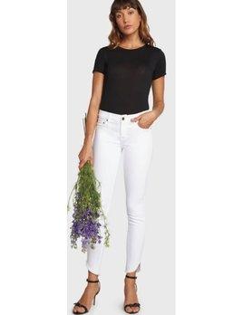 Frayed Tulip Hem Jeans