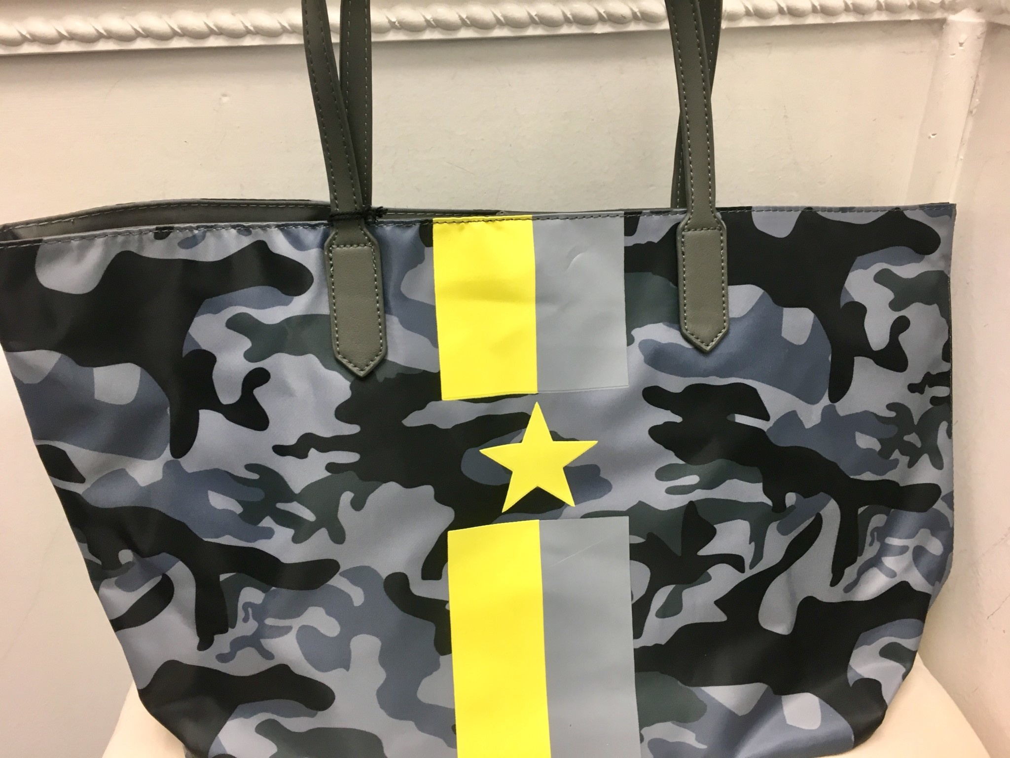 Camouflage Tote with Stripe and Star