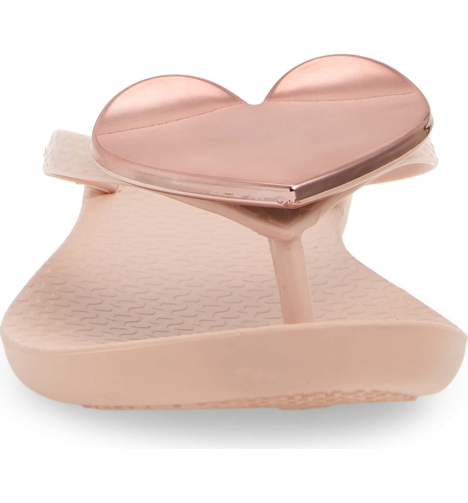 Heart Flip Flops