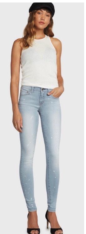 Lightweight Splattered Jeans