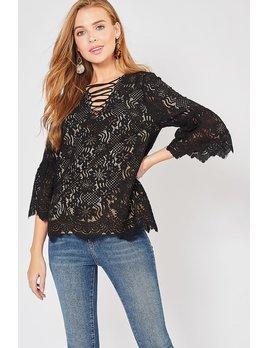 Crochet Top with Crisscross Detail
