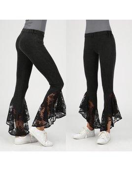 Lace Hem Tulip Pants