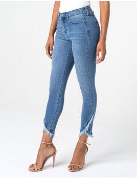 Crop Skinny Front Scallop Hem Jeans