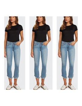Ruffle & Fray Hem Jeans