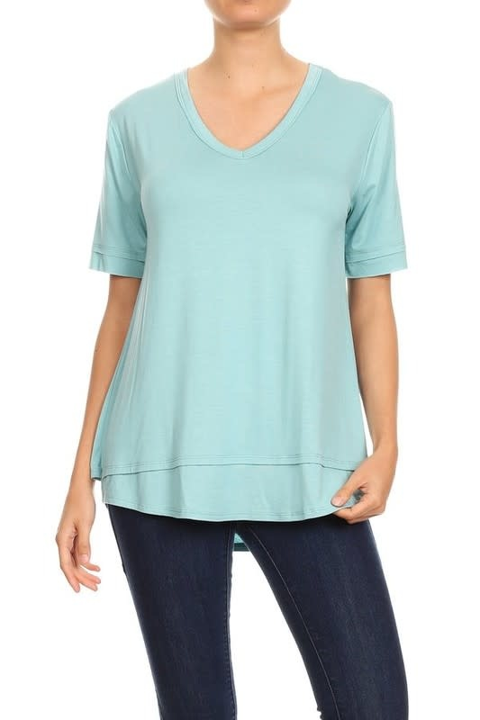 Layered Top with V Neckline