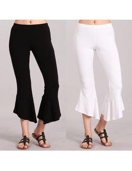 Asymmetrical Flare Hem Pants