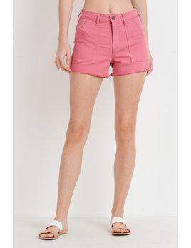 Cargo Fray Hem Shorts