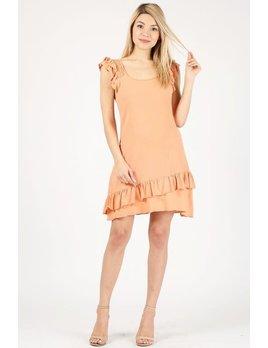 Gauze Ruffle Mini Dress