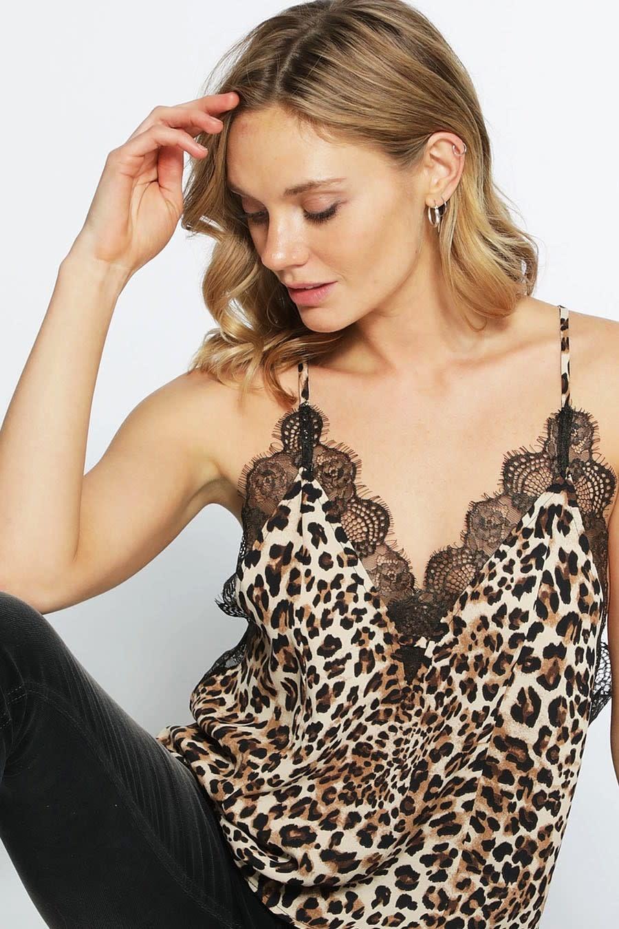 Leopard & Lace Cami
