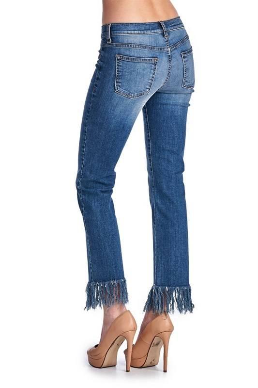 Fringe Cigarette Jeans