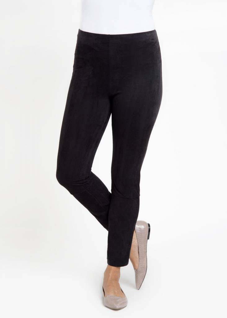 Back Slit Suede Legging